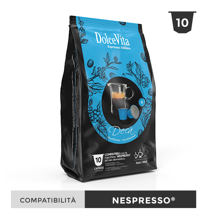 Décaféiné – Dolce Vita, compatible Nespresso 100 Caps