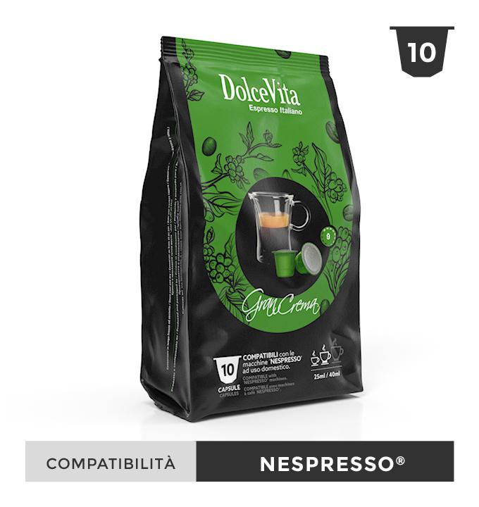 Gran Crema – Dolce Vita, compatible Nespresso 100 Caps