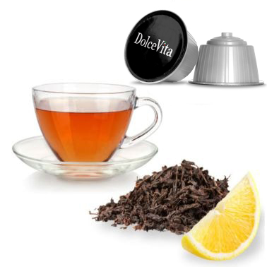 Relax ENGLISH BREAKFAST Thé Noir Citron compatible DOLCE-GUSTO®
