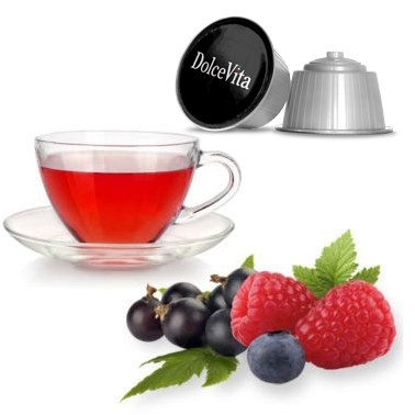 Tisane  relax Fruits Rouges compatible DOLCE-GUSTO® 16x